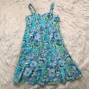 Lilly Pulitzer Rhino Floral Linen Dress